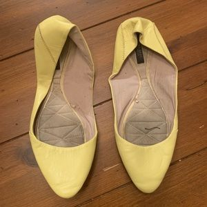 Zara Pastel Yellow Flats
